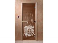 """Стеклянная дверь для бани и сауны """"Банька"""""""